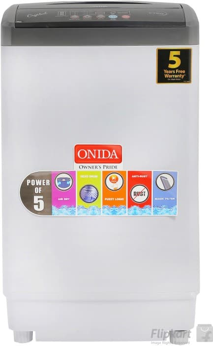 Onida 6.2 kg Fully Automatic Top Load Washing Machine Grey  (T62CGD)