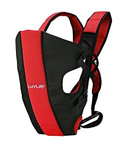 LuvLap Sunshine Baby Carrier (Black/Red)