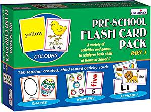 Creative Educational Aids 0512 Pre School Flash Card Pack - 1