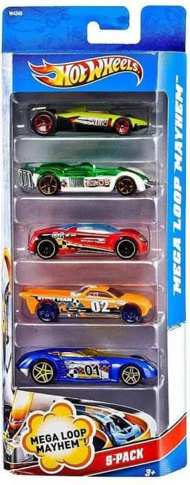 Hot Wheels Five-Car Assortment Pack  (Multi Color)