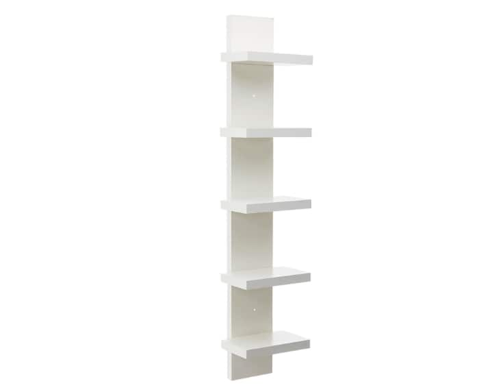 Forzza Roger Wall Shelf, Set of 5 (Matte Finish, White)