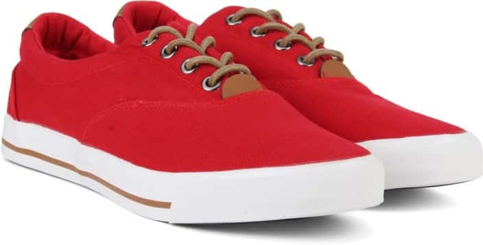 Peter England PE Sneakers For Men  (Red)
