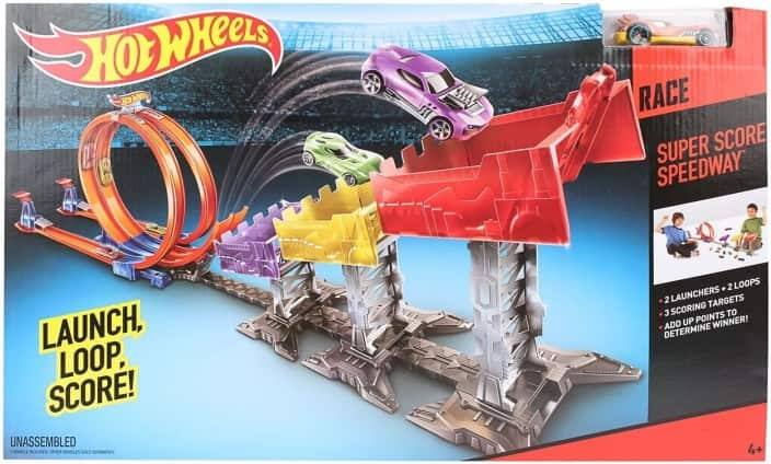 Hot Wheels Super Score Speedway Race Launcher  (Multicolor)
