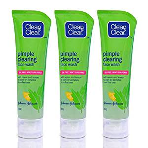 Clean & Clear Pimple Clearing Facial Wash, 80g (Buy 2 Get 1 Free)