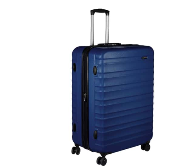 "AmazonBasics Hardside Suitcase with Wheels, 28"" (71 cm), Navy Blue"