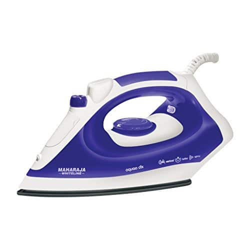 Maharaja Whiteline Aquao Deluxe SI-102 1400-Watt Steam Iron Rs. 840 - Amazon