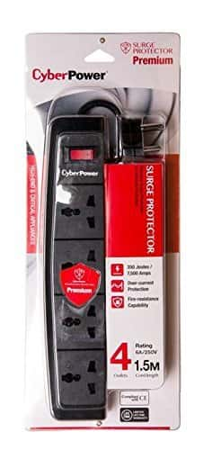 CyberPower BO415SAO-UN 4-Outlet Surge Protector Rs. 199 - Amazon
