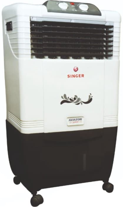 Singer Aviator Junior Personal Air Cooler  (White, 30 Litres)