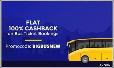 Flat 100% Cashback Upto ₹125 on bus ticket [New Users]