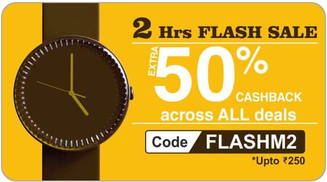 Flat 50% cashback upto 250 across all deals on little app