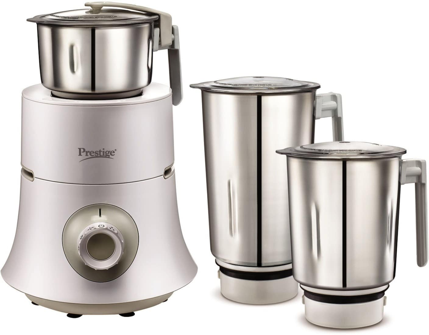Prestige Teon 750 W Mixer Grinder  (White, 3 Jars)(3hours left)