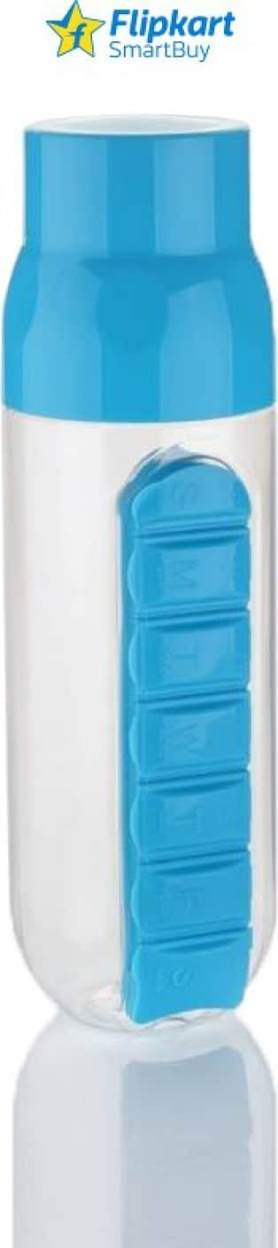Flipkart SmartBuy Pill Organiser 700 ml Bottle (Pack of 1, Blue, Clear) @ 209, 76% off