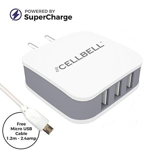 CELLBELL Supercharge 3.4A Universal Wall Charger Adapter at Rs. 699 - Amazon