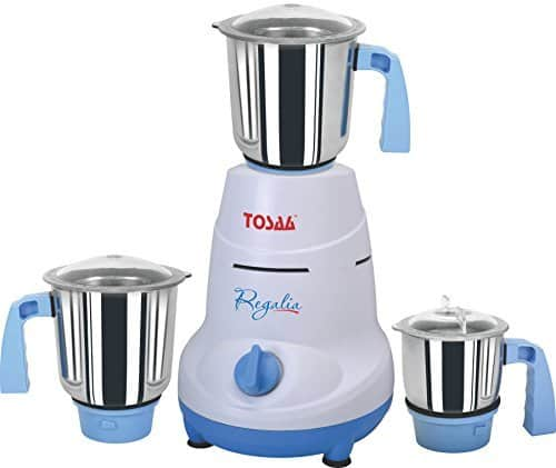 Tosaa Regalia 550-Watt Mixer Grinder (Blue and White) @ Rs.1228/- (59% off)