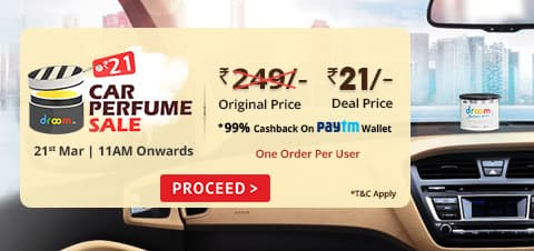 Live@11am] Droom Car Perfume Sale Rs. 1 (After Cashback)