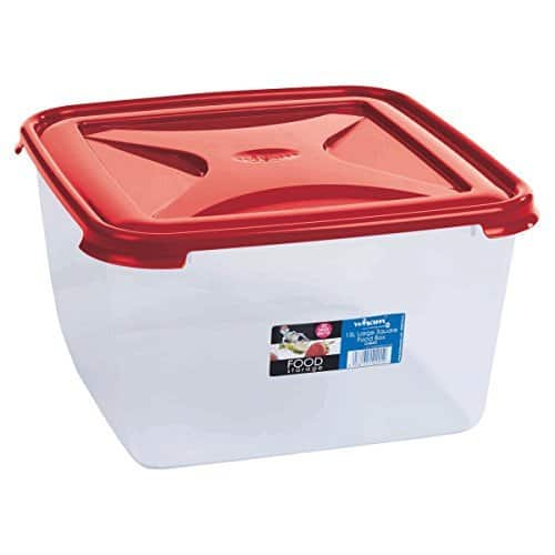 Wham Cuisine Large Square Food Storage Plastic Box Container, 15 Litre, Red @ 699/- (72% Off)