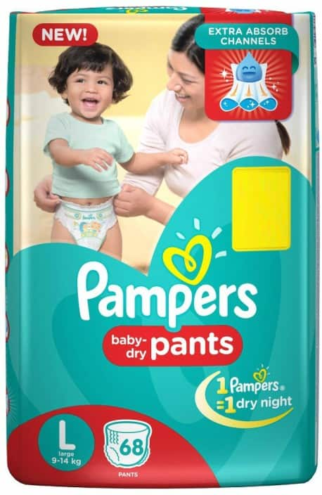 Pampers Pants Diapers - L  (68 Pieces)