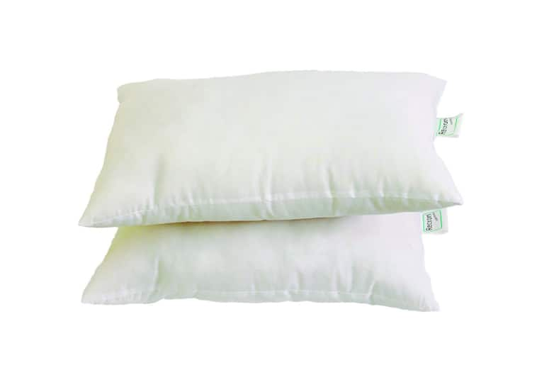 Recron Fiber Dream Pillow - 40 x 61 cm, White, 2 Piece