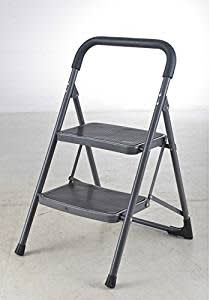 Bathla Step Up - High-Utility Step Foldable Steel Ladder for Home Use with 1-Year Warranty (2 Step Up Ladder)