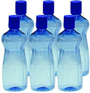 Princeware Aster Pet Fridge Bottle, 500ml, Set of 6, Blue