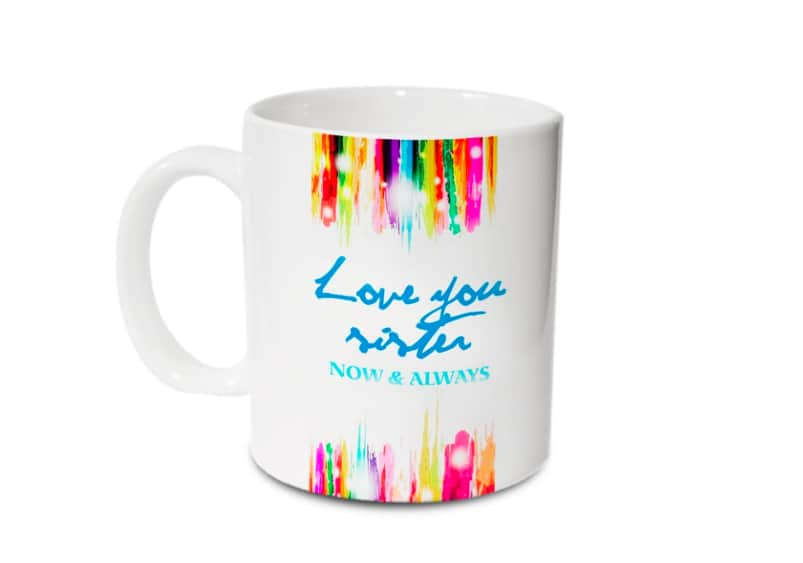 Hot Muggs Love You Sister Ceramic Mug, 350ml