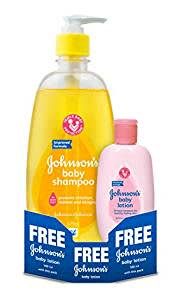 Johnson's Baby Shampoo (475ml) with Free Baby Lotion (100ml)