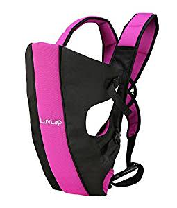 LuvLap Sunshine Baby Carrier (Black/Pink)