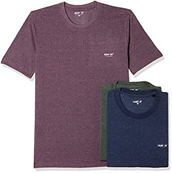 Newport Men's Plain Regular Fit T-Shirt (Pack of 3)