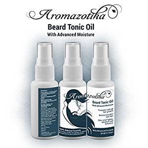 Men's Beard & Hair Growth Tonic Oil with Advanced Moisturizer(50ML)100% Pure & Natural - By Aromazotika. FAST HAIR GROWTH TONIC.