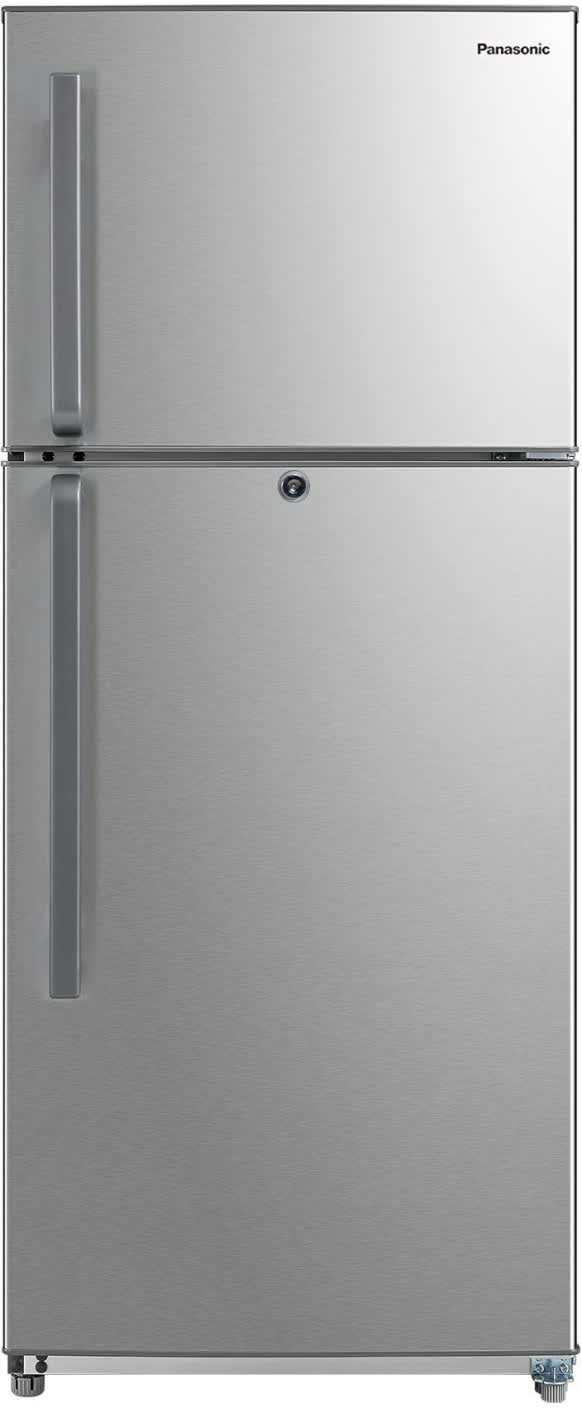 Panasonic 400 L Frost Free Double Door 3 Star Refrigerator  (Stainless Steel, NR-BC40SSX1)