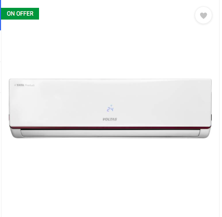 Voltas 1.5 Ton 3 Star BEE Rating 2018 Inverter AC - White  (183VJZJ, Copper Condenser)
