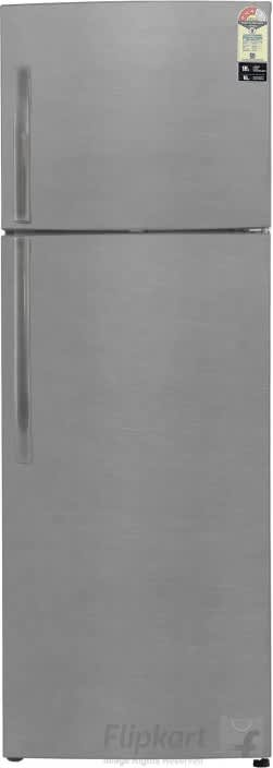 Haier 335 L Frost Free Double Door 3 Star Refrigerator  (Brushline Silver, HRF-3554BS-R/E)