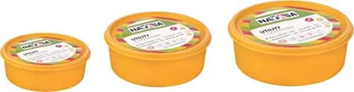 Nayasa Vital Round Plastic Container, 3-Pieces Rs.111 (65% Off)