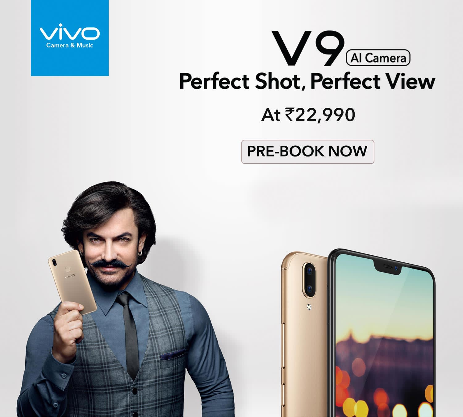 Prebook-Vivo V9 (19:9 FullView Display, Pearl Black) with Offers