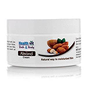 Healthvit Bath and Body Almond Cream, 50g