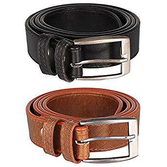 London Fashion Black Brown Color Combo Belt For Men