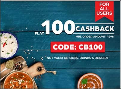 Flat Rs.100 cashback on Food orders at Box8 [all users]