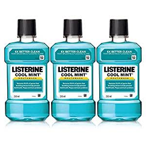 Listerine Cool Mint Mouthwash - 250ml (Buy 2 Get 1 Free)(22 min left)