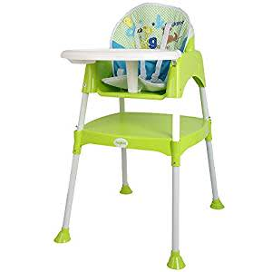 Baybee Little Miracle Beautiful-The Convertible Baby High Chair Study Table Feeding Chair (with cushion)