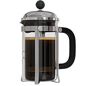 InstaCuppa French Press Coffee Espresso Tea Maker 600 ml, 3 Part Superior Filter BPA Free Borosilicate Glass Carafe Heat Resistant Handle Easy To Clea
