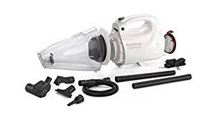 Black + Decker VH802 800-Watt Vacuum Cleaner and Blower with 8 Attachment, White