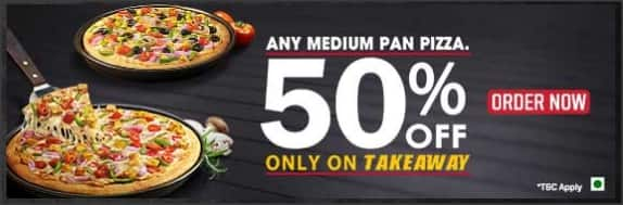 Pizza Hut buy 2 pizzas at 50% discount [CheezeMax also working ]