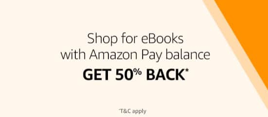 Amazon eBooks upto 90% off + 50% Cashback with Amazon Pay Balance