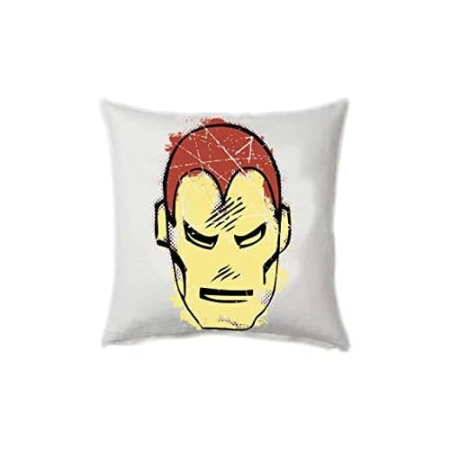 "Marvel Iron Man Comics Square Stretch Polyester Cushion Cover - 16""x16"", Multicolour"