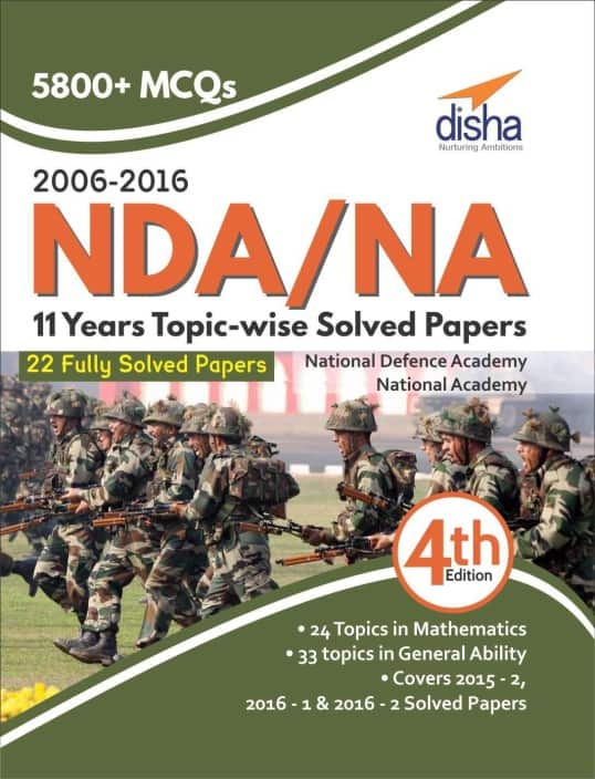 NDA/ NA 11 years Topic-wise Solved Papers (2006 - 2016) 4th Edition  (English, Paperback, Disha Experts)