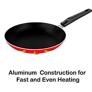 Nirlon Non-Stick Aluminum Mini Frying Pan (20 x 20 CM)(Red)
