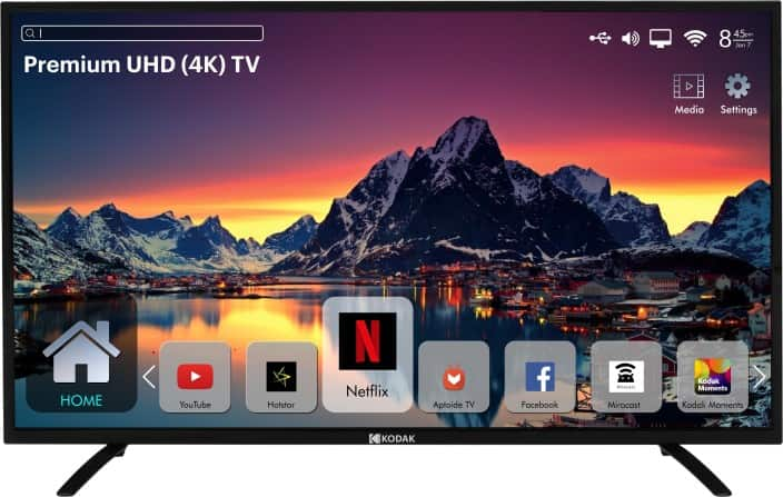 Kodak 140 cm (55 inch) Ultra HD (4K) LED Smart TV  (55UHDXSMART)