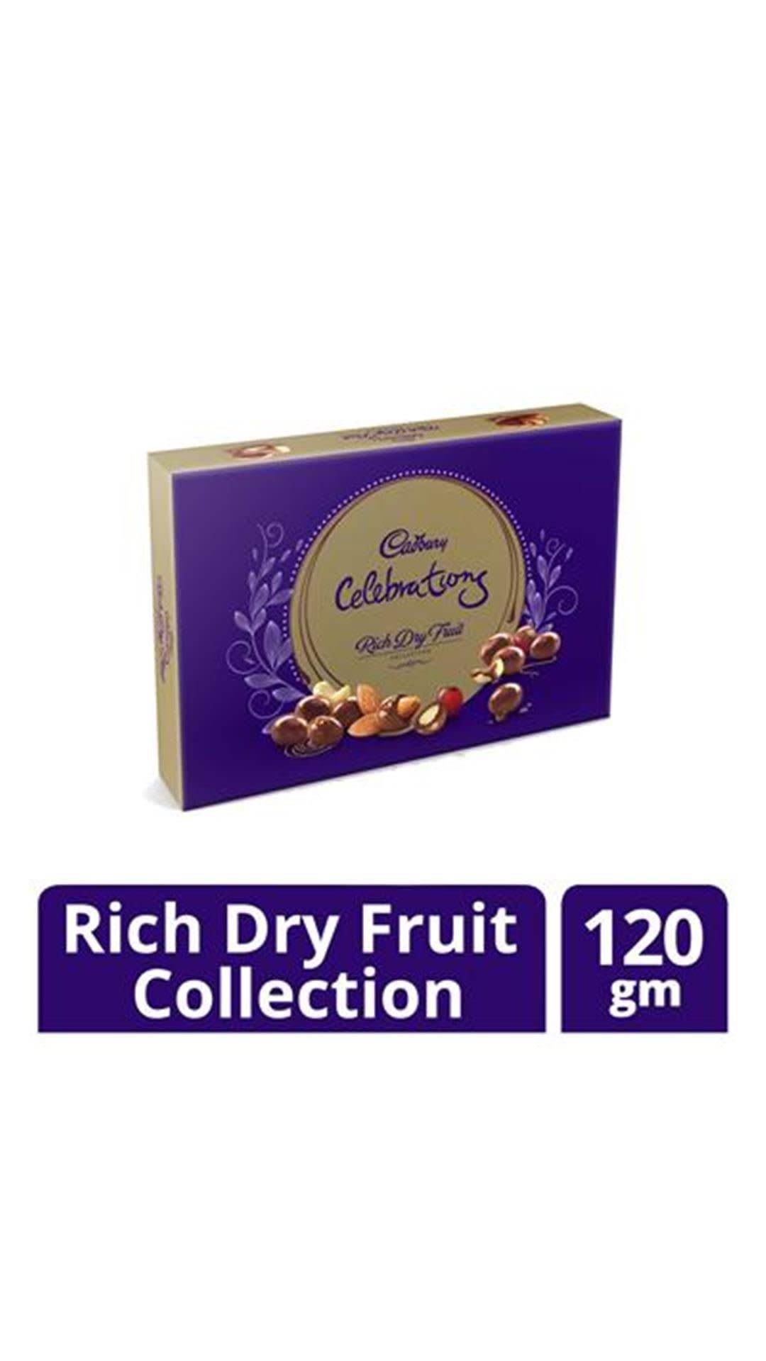 Cadbury Rich Dry Fruit Collection , 120g (pack of 2)