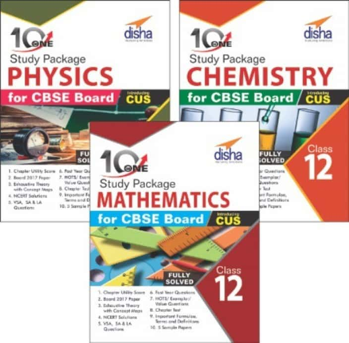 Combo 10 in One Study Package for CBSE Physics, Chemistry & Mathematics Class 12  (English, Paperback, Disha Experts)