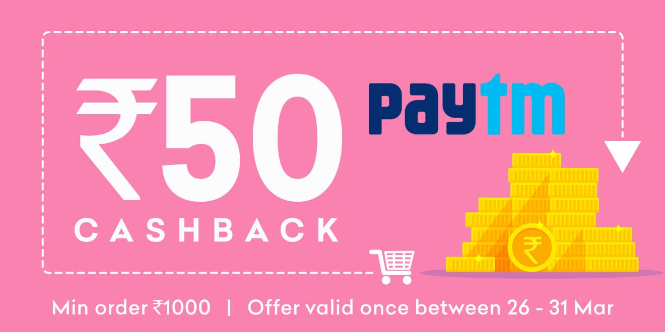 Flat Rs.50 Cashback at Grofers on payment via paytm wallet [26-31st march]
